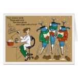 Pipet Carolers Greeting Cards
