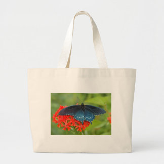 pipevine swallowtail large tote bag