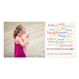 PiPo Press Words Personalized Photo Card