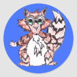 PIPPY Racoon Labels Round Sticker