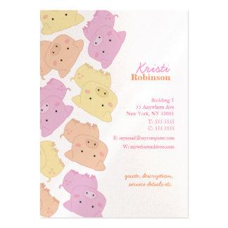 Pip's Little Piggies Pattern Business Card