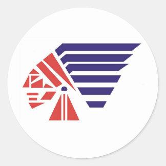 Piqua Youth Football Indians Spirit Wear Round Sticker