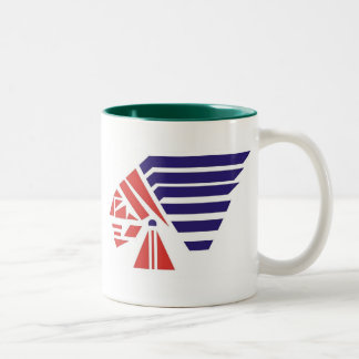 Piqua Youth Football Indians Spirit Wear Two-Tone Mug
