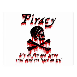Piracy It's all fun and games Postcard