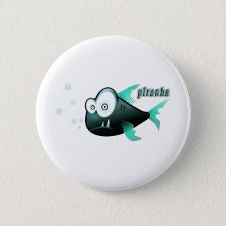 Piranha 6 Cm Round Badge