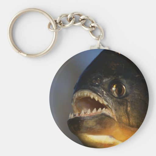 Piranha Close-Up Key Chains