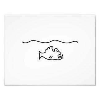 piranha fish bit tooth photo art