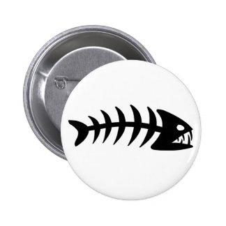 Piranha Fish Bone 6 Cm Round Badge