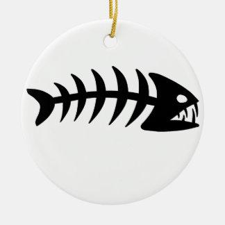 Piranha Fish Bone Ornament