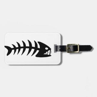 Piranha Fish Bone Tags For Luggage