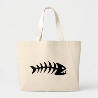 Piranha Fish Bone Tote Bags