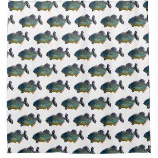 Piranha Frenzy Shower Curtain (Choose colour)