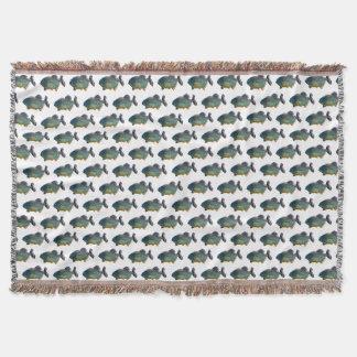 Piranha Frenzy Throw Blanket (choose colour)