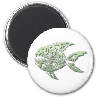 Piranha 6 Cm Round Magnet