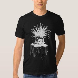 PIRANHA PLANT: WHT on BLK Series Tshirt