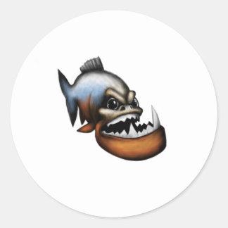 Piranha Round Sticker