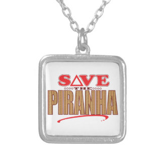 Piranha Save Silver Plated Necklace