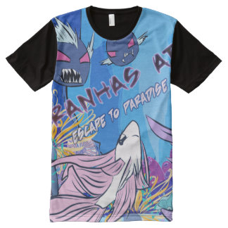 Piranhas Attack All-Over Print T-Shirt