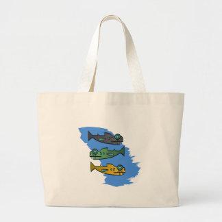 Piranhas Tote Bags