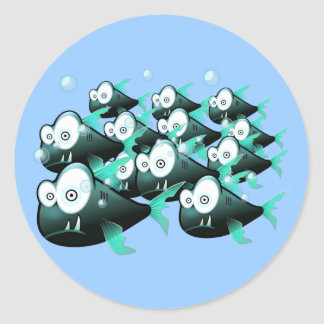 Piranhas Round Stickers