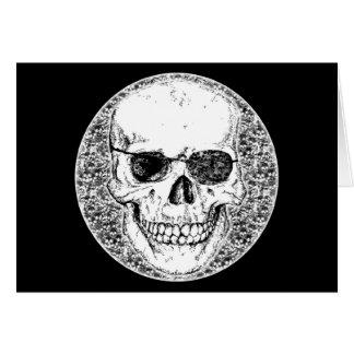 pirarte skull greeting card