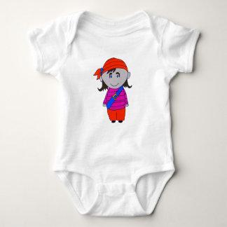 pirat girl baby bodysuit