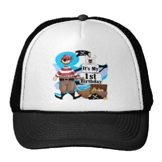 Pirate 1st Birthday T-shirts and Gifts Cap