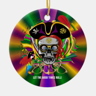 Pirate-2 Carinival Custom Throws Joker Back Round Ceramic Decoration