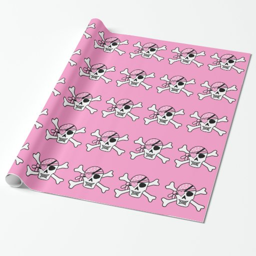 pirate-310038 pirate skull skull and crossbones ey gift wrap paper