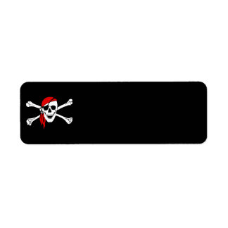 pirate-47705  pirate flag bones skull danger return address label