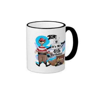 Pirate 4th Birthday Tshirts and Gifts Mug