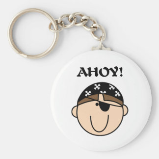 Pirate Ahoy Basic Round Button Key Ring
