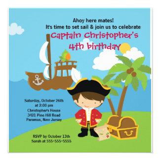 Pirate Ahoy Mates Birthday Party Invitation Boy