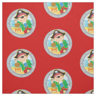 Pirate and Crab Fabric