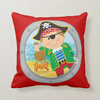 Pirate and Crab Pillow