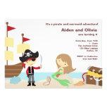 PIrate and Mermaid Invitations Personalized Invite