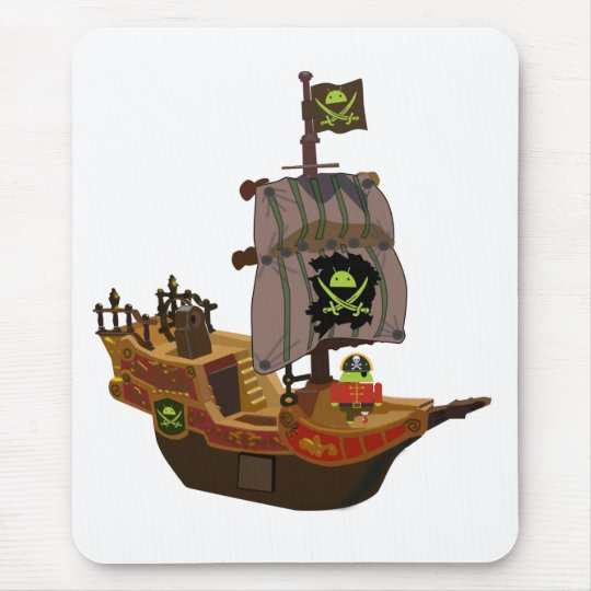 Pirate Andy on a Ship Mouse Mat