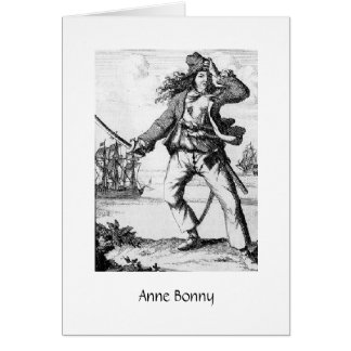 Pirate Anne Bonny Greeting Card