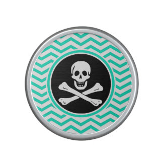 Pirate Aqua Green Chevron Bluetooth Speaker