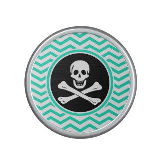 Pirate; Aqua Green Chevron Bluetooth Speaker