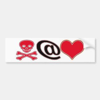 Pirate at Heart Car Bumper Sticker