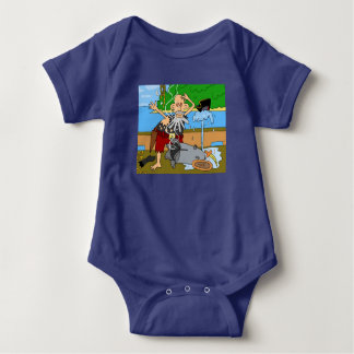 pirate baby bodysuit by DAL