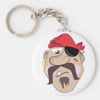 Pirate Basic Round Button Key Ring
