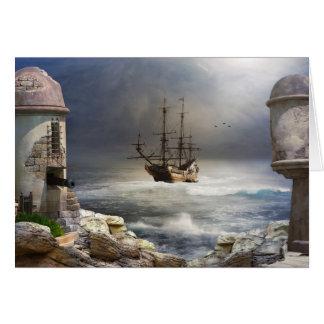 Pirate Bay Greeting Card
