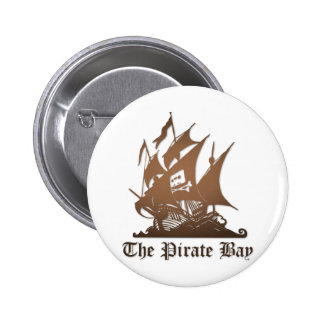 Pirate Bay, Illegal Torrent Internet Piracy 6 Cm Round Badge