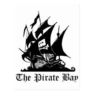 Pirate Bay, Illegal Torrent Internet Piracy Postcard
