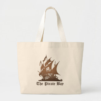 Pirate Bay, Illegal Torrent Internet Piracy Jumbo Tote Bag