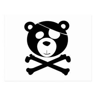 pirate bear postcard
