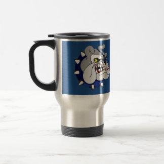 Pirate Beastly Bulldog Zombie Stainless Steel Travel Mug