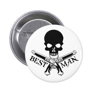 Pirate Best Man Button
